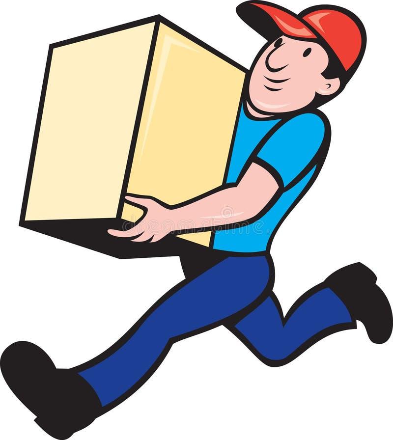 Ouvrier de personne de la distribution exécutant livrant le cadre illustration libre de droits