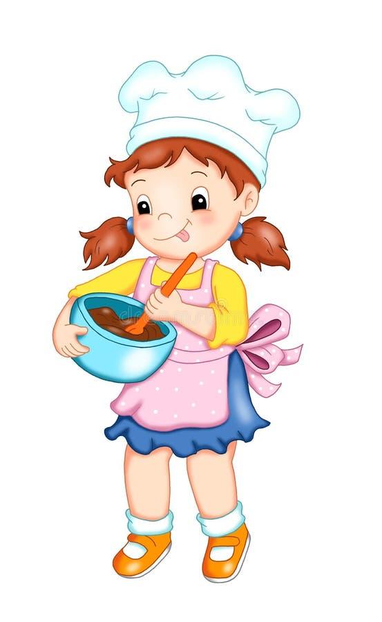 Download Ouvriers 6, le cuisinier illustration stock. Illustration du isolement - 14184035