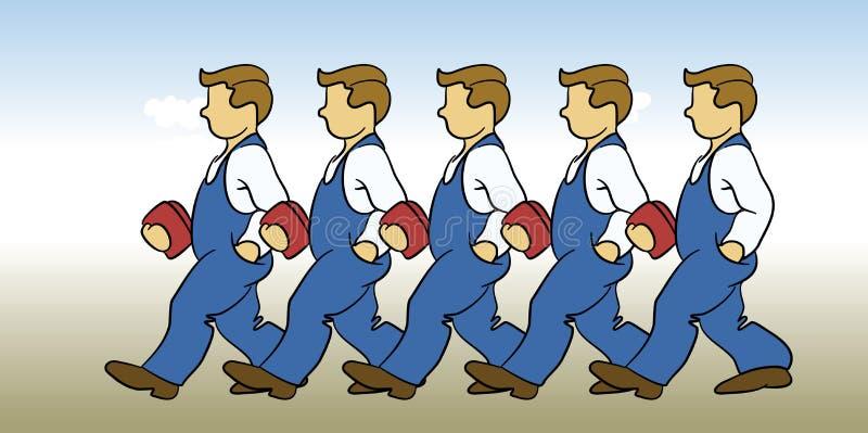 Ouvriers illustration libre de droits
