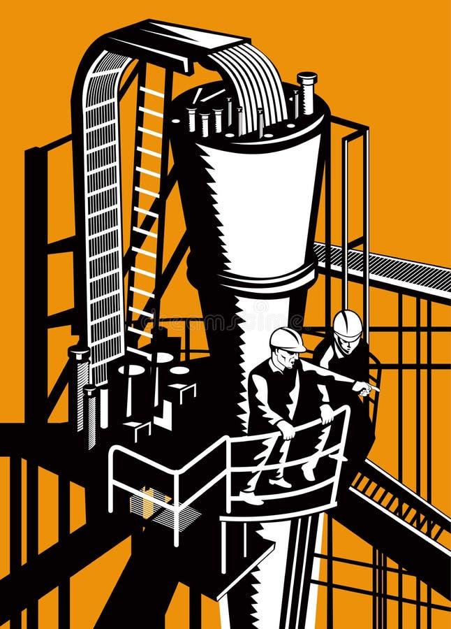 Ouvriers de centrale illustration stock