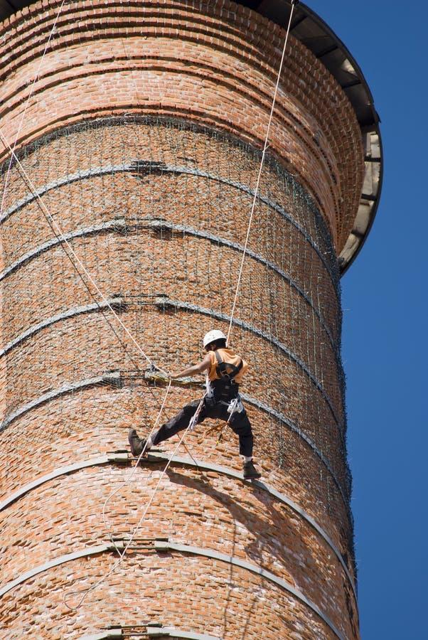 Ouvriers de cheminée photographie stock libre de droits