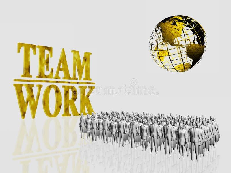 Ouvriers globaux d'équipe. illustration de vecteur