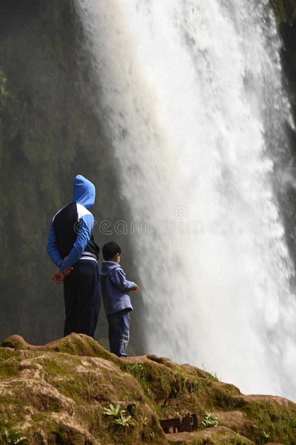 Ouzoud Great Falls em Marrocos foto de stock