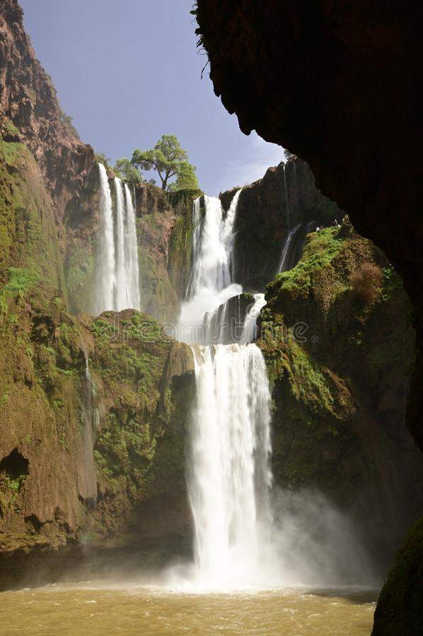 Ouzoud Great Falls em Marrocos imagem de stock royalty free