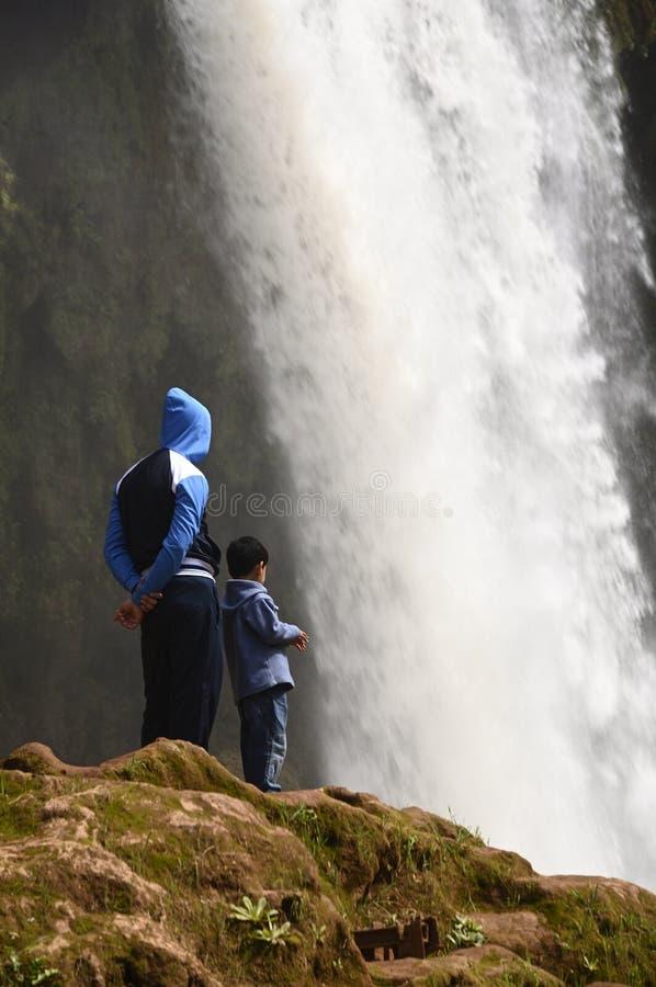 Ouzoud Great Falls in Marokko stock foto