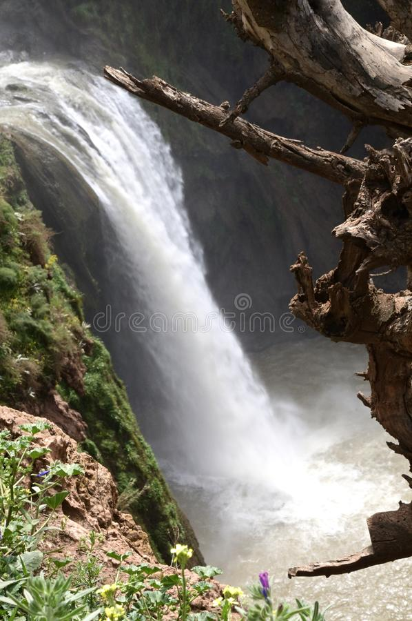 Ouzoud Great Falls w Maroko obraz royalty free
