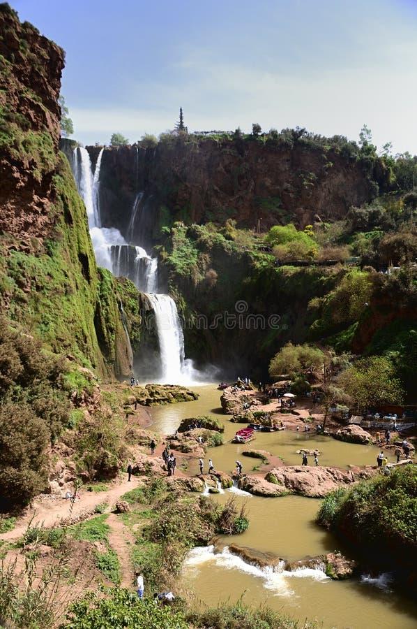 Ouzoud Great Falls w Maroko fotografia stock