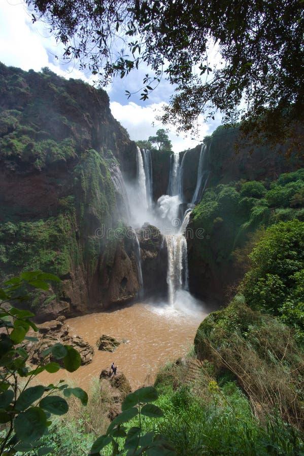 Ouzoud Wasserfälle stockfotos