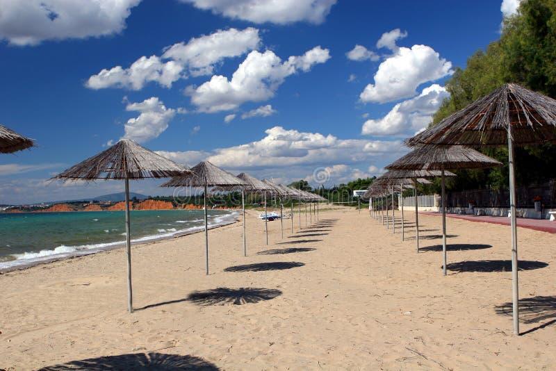 ouzouni na plaży obrazy stock