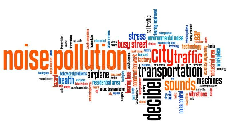Oväsenförorening royaltyfri illustrationer