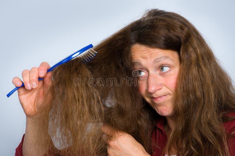 Ovårdat hår arkivfoto