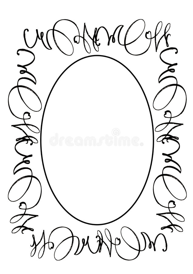 Ovaal frame royalty-vrije illustratie