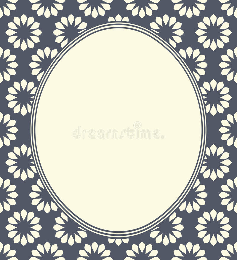 Ovaal frame met bloemen vector illustratie