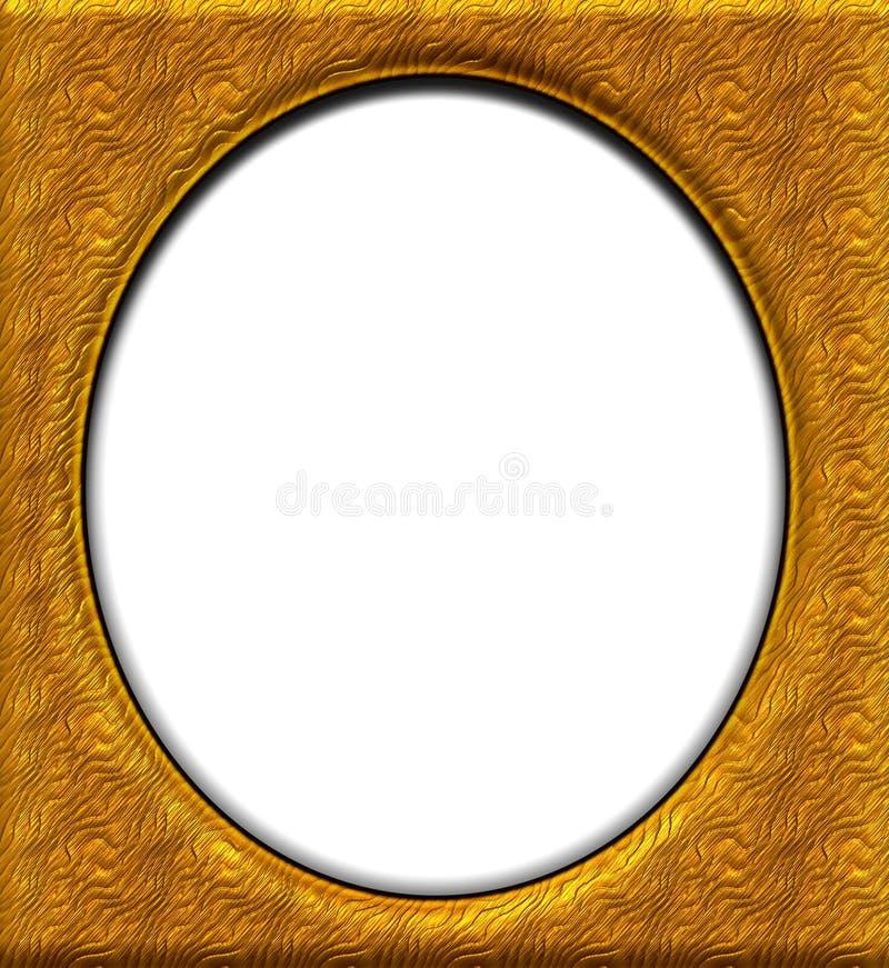 Ovaal gouden frame royalty-vrije illustratie