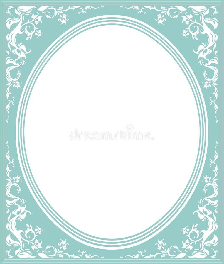 Ovaal kader met elegant ornament vector illustratie