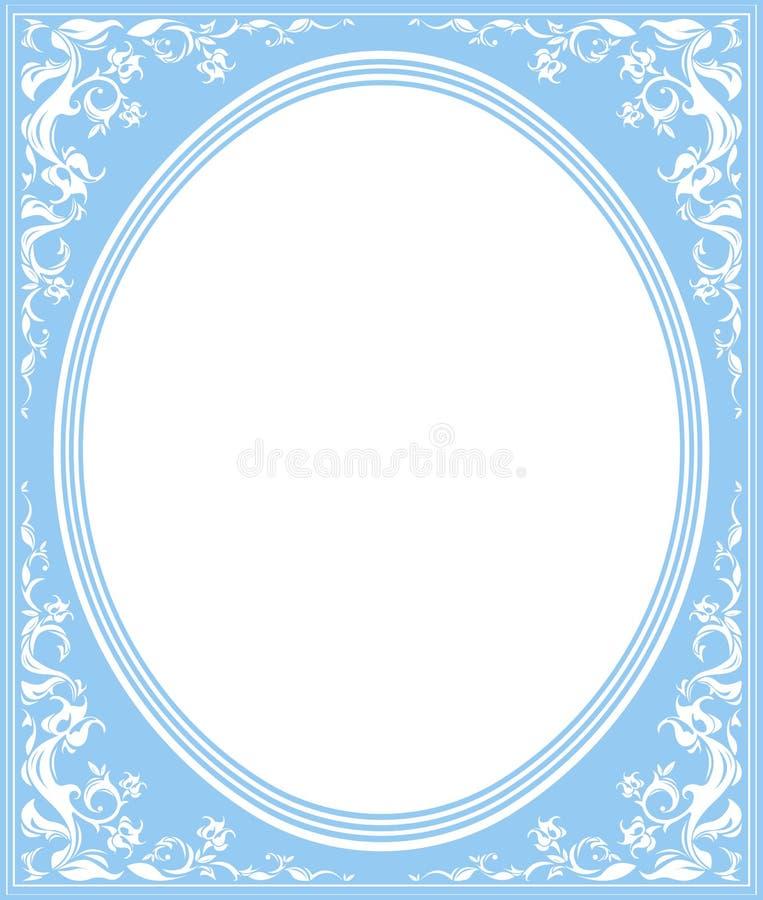 Ovaal kader met modieus ornament royalty-vrije illustratie