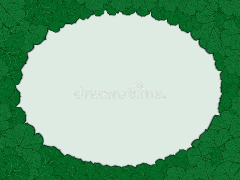 Ovaal kader van bladeren vector illustratie