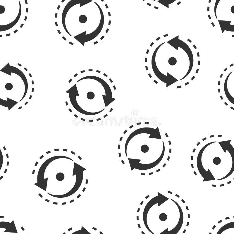 Ovaal met naadloze het patroonachtergrond van het pijlenpictogram De consistentie herhaalt vectorillustratie op wit ge?soleerde a vector illustratie