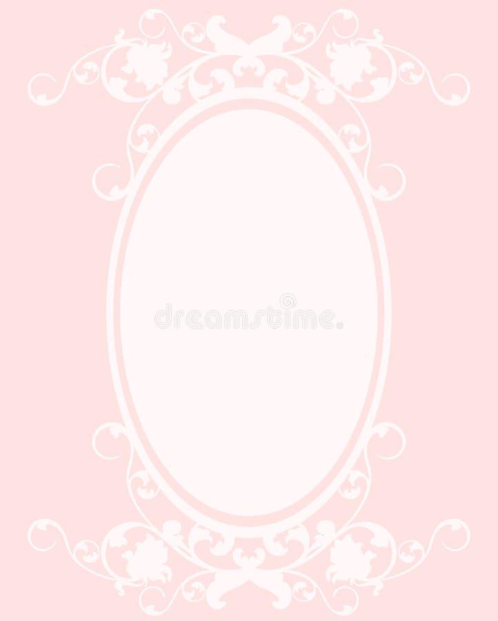 Ovaal roze kader stock illustratie
