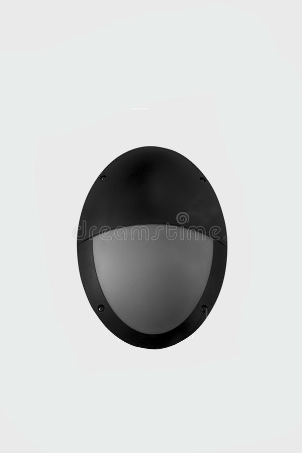 Ovaal zwart openluchtlicht royalty-vrije stock fotografie