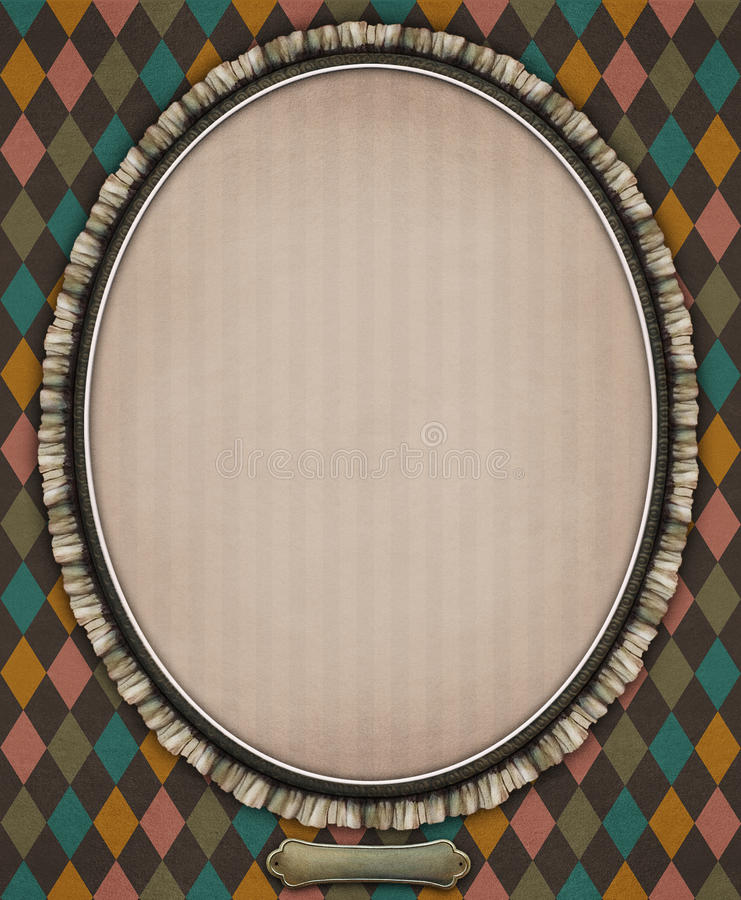 Oval με το πλαίσιο απεικόνιση αποθεμάτων