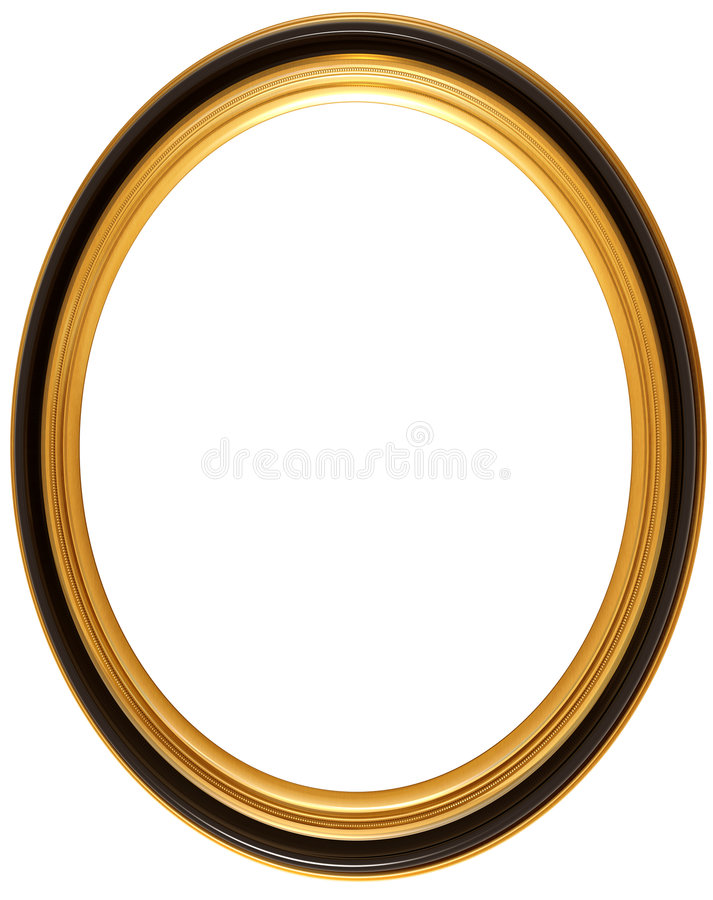 Free Oval Antique Picture Frame Royalty Free Stock Image - 9113176