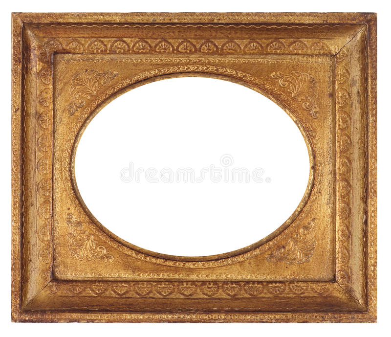 Oval Antique Picture Frame royalty free stock photos