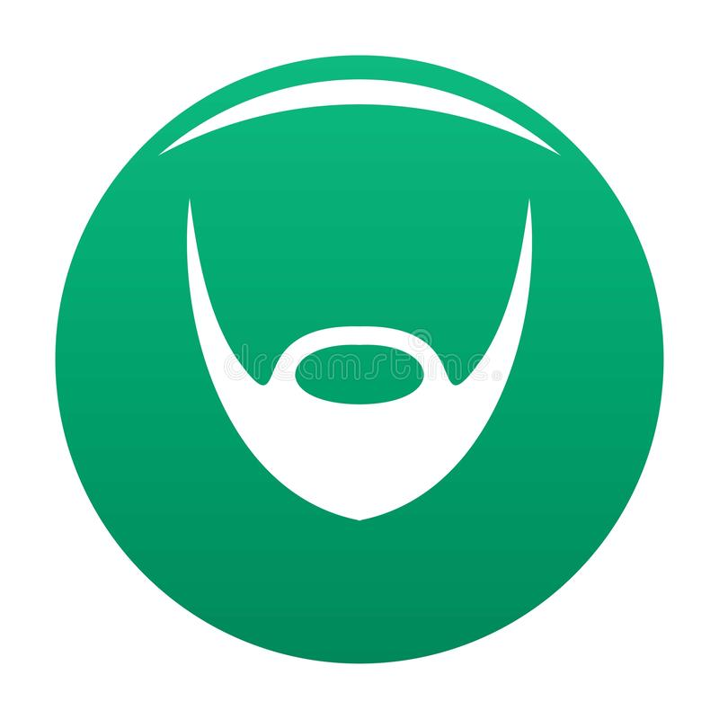 Oval beard icon vector green. Oval beard icon. Simple illustration of oval beard vector icon for any design green stock illustration