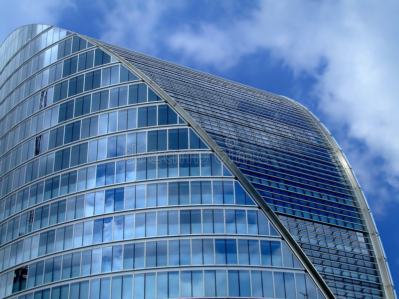 Oval building stock photography