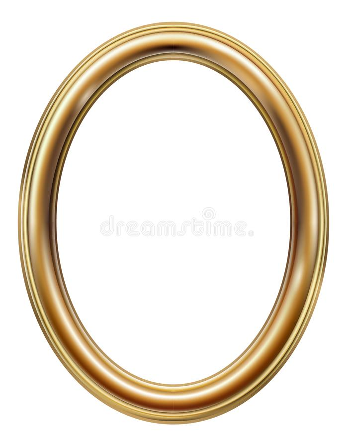 Free Oval Classic Golden Picture Frame Royalty Free Stock Photography - 158076457