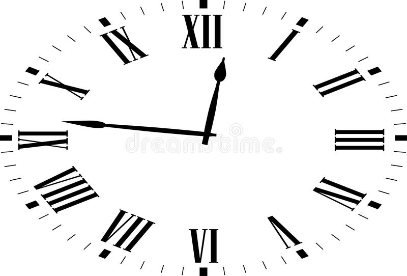 Oval Clocks. Oval retro Clocks. Vector Illustration stock illustration