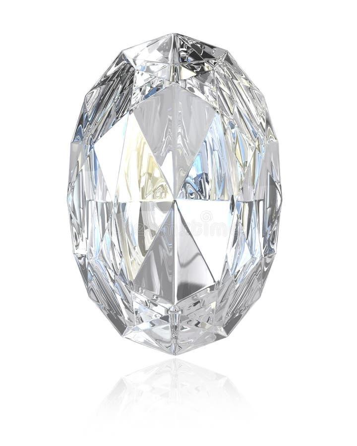 Oval Cut Diamond Stock Photo