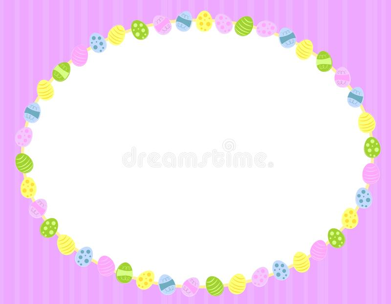 Oval Easter Eggs Background Frame royalty free stock photography