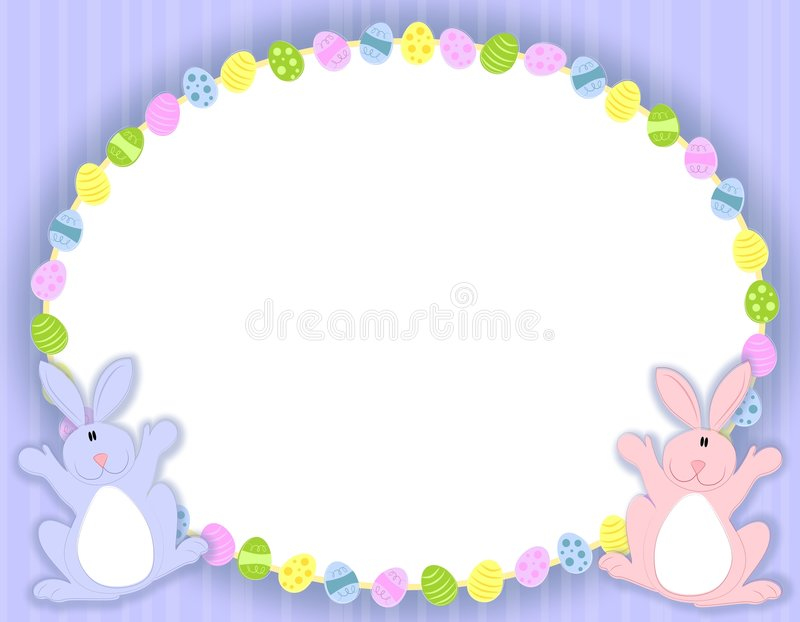 Download Oval Easter Eggs Frame stock vector. Image of colourful - 4039888