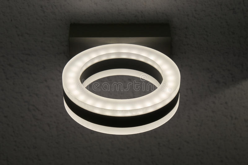 Oval electric lamp royalty free stock photography