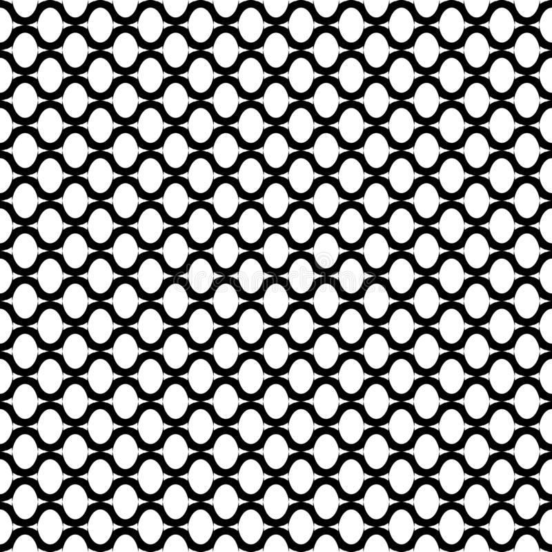 Oval elements and wavy lines grid pattern. Seamless texture. Oval elements and wavy lines grid pattern. Seamless geometric texture. Vector art stock illustration