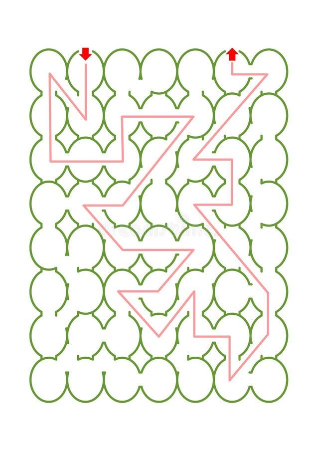 Oval eller ägg formad labyrintlek vektor illustrationer