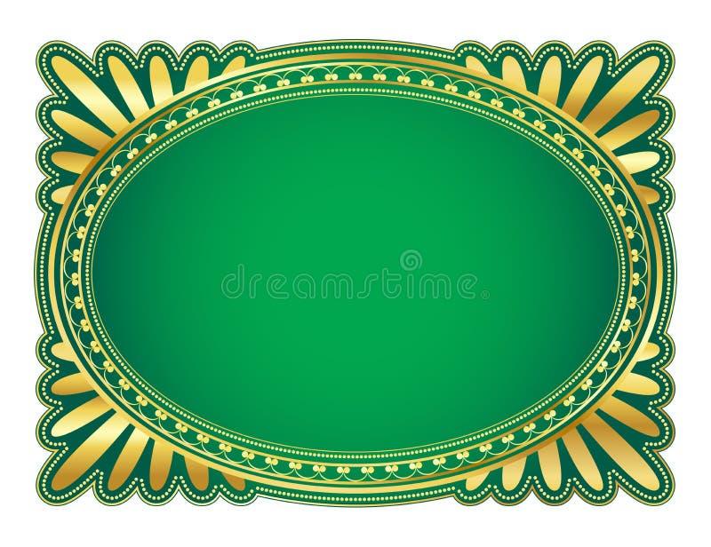 Oval frame royalty free illustration