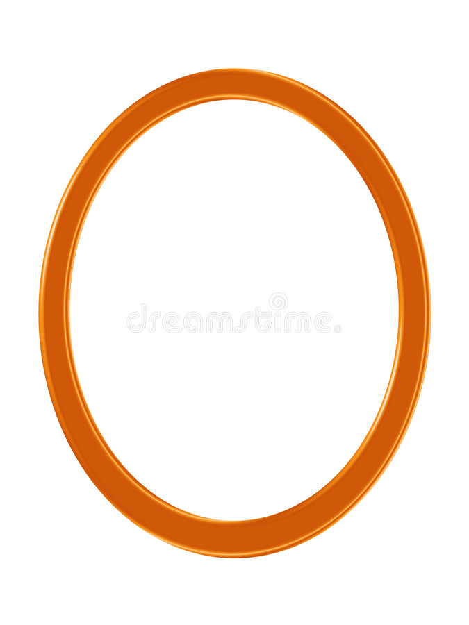 Oval frame. Brown colour with white background royalty free illustration
