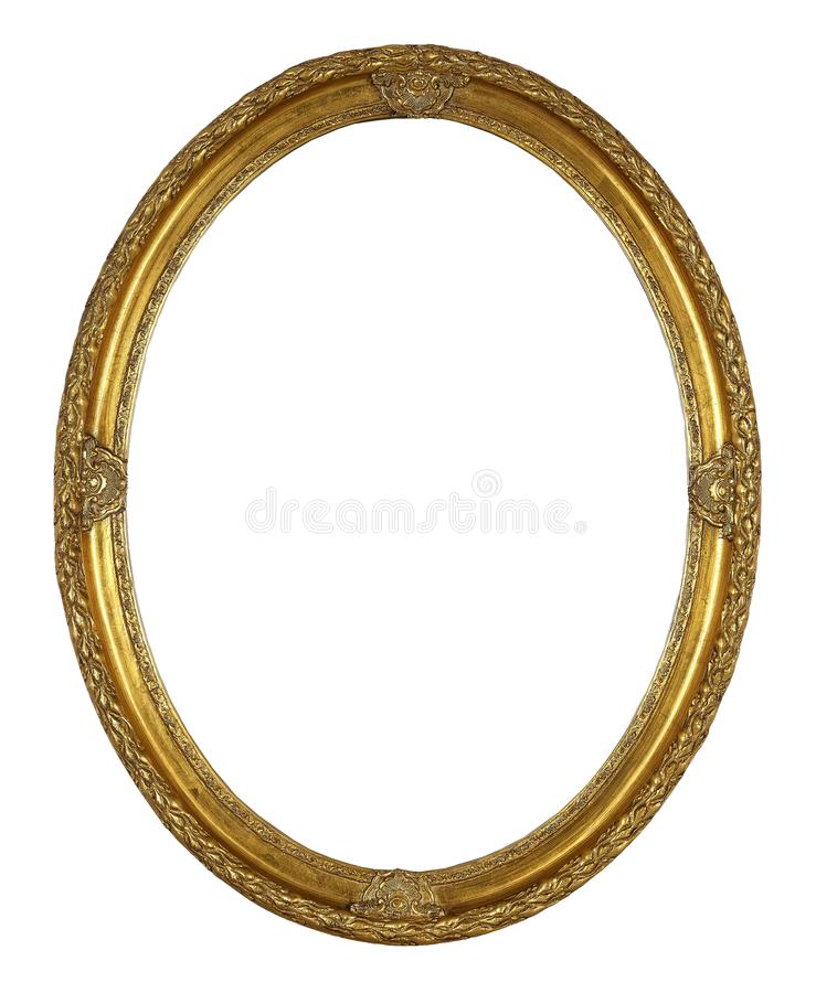 Oval frame isolated on white stock photography
