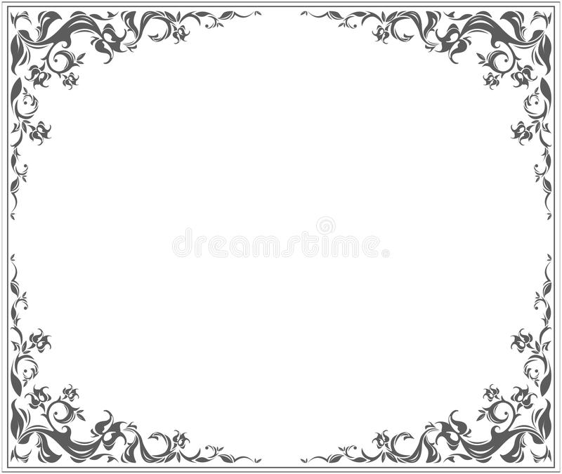 Oval frame. With stylish vintage ornament and floral elements vector illustration
