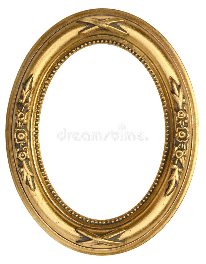 Free Oval Gold Picture Frame Royalty Free Stock Photo - 51953185