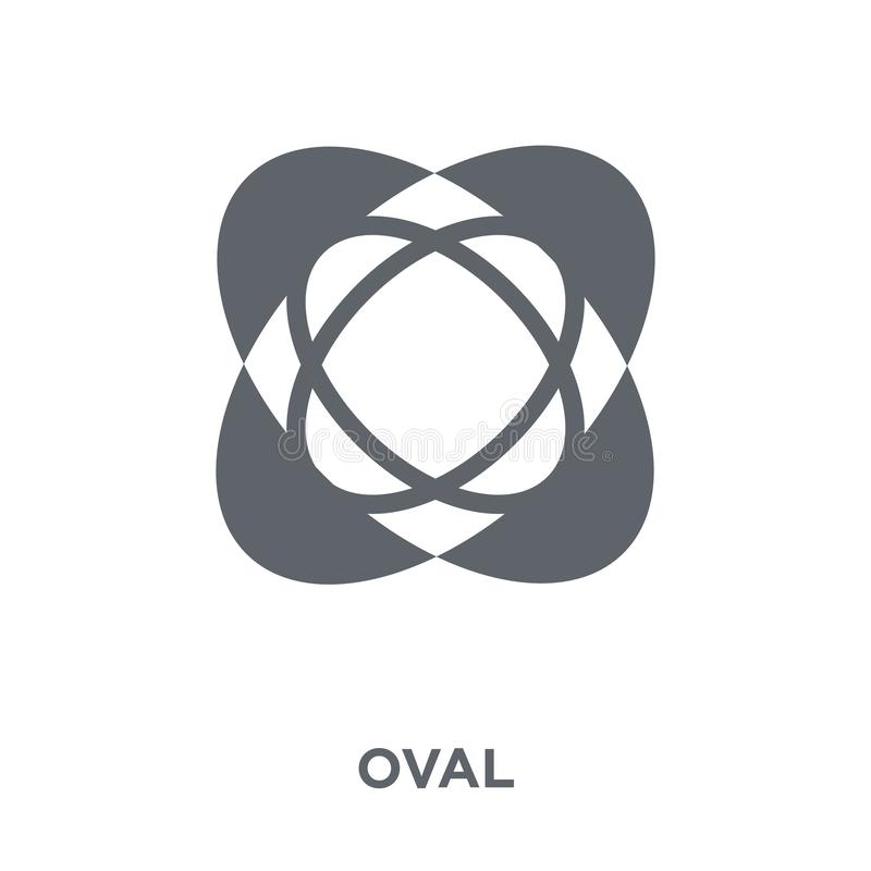 Oval icon from Geometry collection. royalty free illustration