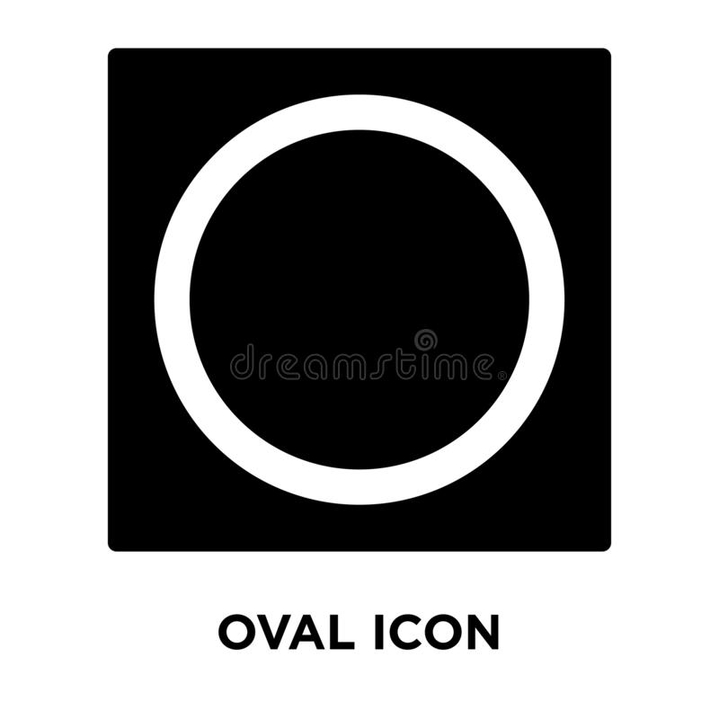 Oval icon vector isolated on white background, logo concept of O vector illustration
