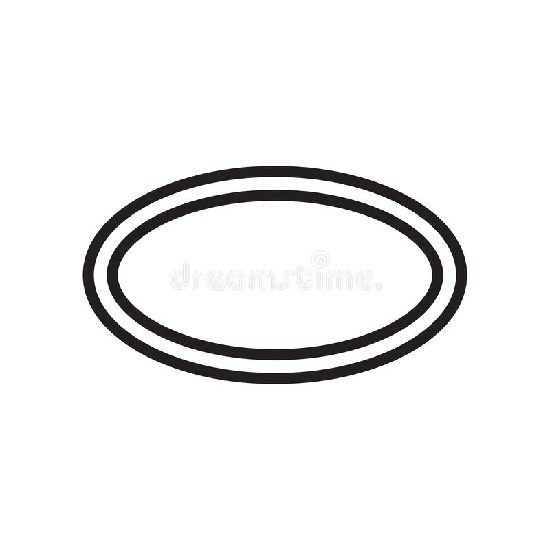 Oval icon vector sign and symbol isolated on white background, Oval logo concept vector illustration