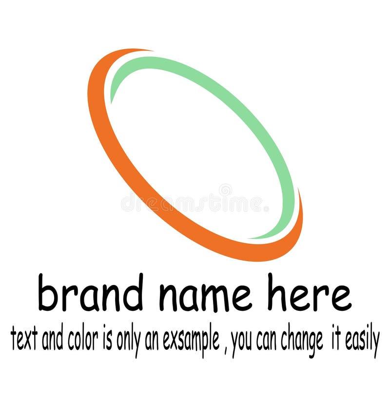 Oval logo vector. Sample icon oval logo vector vector illustration