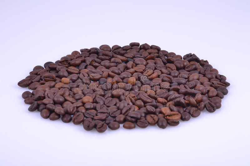Oval making of coffee beans royalty free stock photo