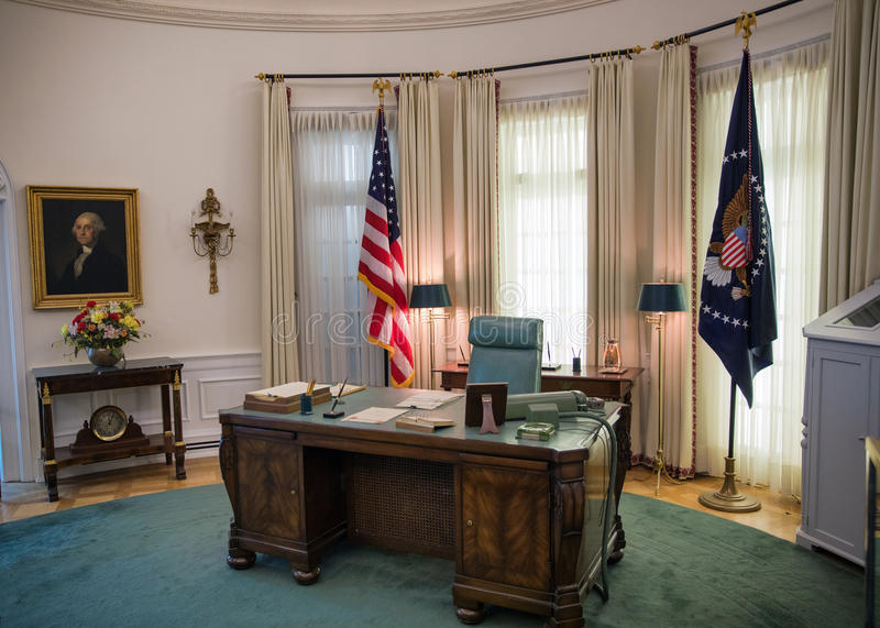 The Oval office stock images