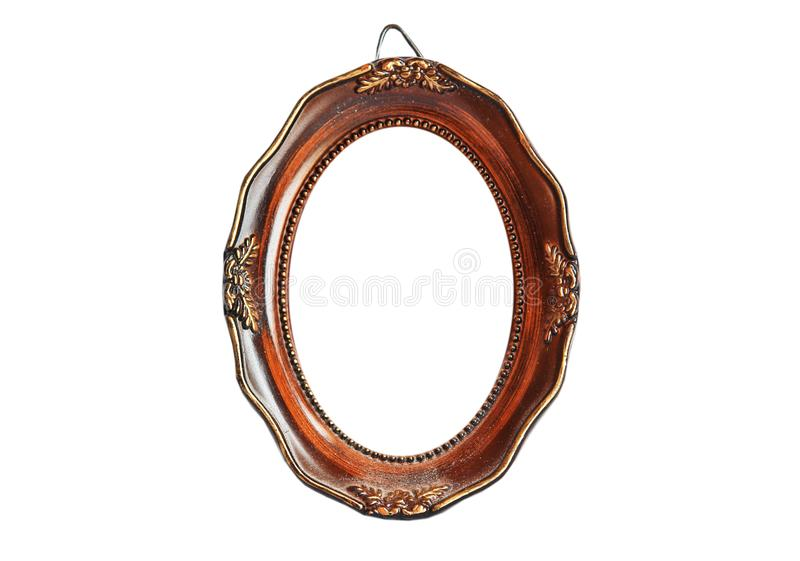 Oval picture frame stock photography