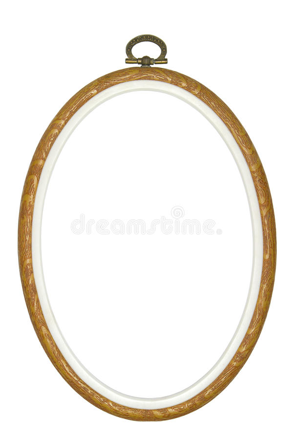Oval Picture Frame. An oval picture frame on a white background royalty free stock images